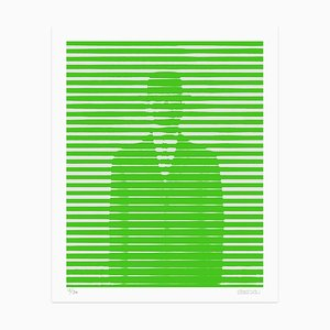 Green and Grey Lines Giclée Print by Dadodu, 2016