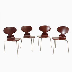 Early Ant Chairs by Arne Jacobsen for Fritz Hansen, 1950s, Set of 4