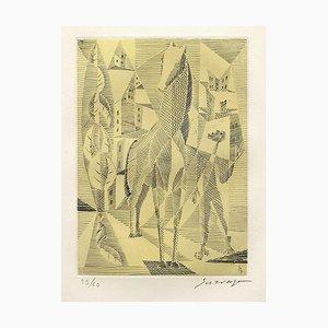 Horse Radierung von Léopold Survage, 1953