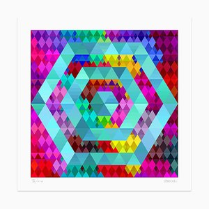 Color Hexagon Giclée Print by Dadodu, 2013