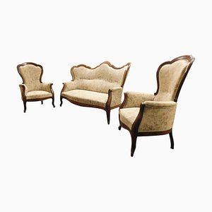19th Century Italian Living Room Set, Set of 3