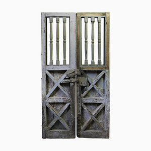 16th Century Italian Door or Gate with Lacquered Turned Columns