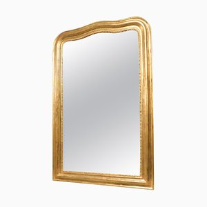 Antique Gilded Mirror with Frame Moved, France, 1800s