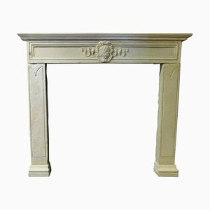 Antique Fireplace Mantel in Gray Sandstone, Florence, 1500s