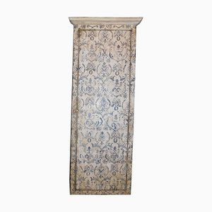 Antique Wall Cabinet Door with Painted Lilies with Upholstery, Italy, 1800s