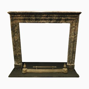 19th Century Italian Gray Marble Mantle Fireplace