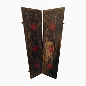Antique Italian Smooth Lacquered Wood Door
