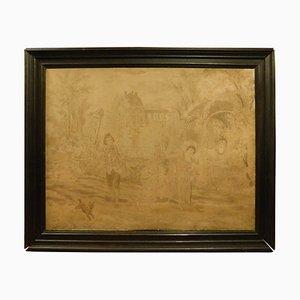 Antiker Wandteppich von D'Apres Alonso Perez, Frankreich, 19. Jahrhundert