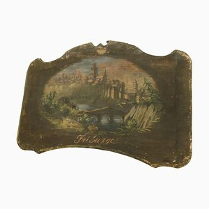 Antiques Painted Canvases with Friburgo Landscapes, Italy, 1800s, Set of 2