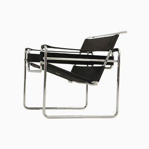 Black Wassily Chair by Marcel Breuer for Gavina