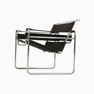 Schwarzer Wassily Stuhl von Marcel Breuer für Gavina