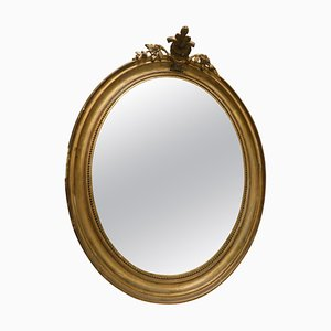 Antique French Gold Wood Wall Mirror