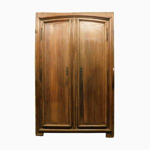 18th Century Italian Placard Door in Brown Walnut Wood