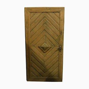 Antique Italian Rustic Door in Blond Larch, 1800s