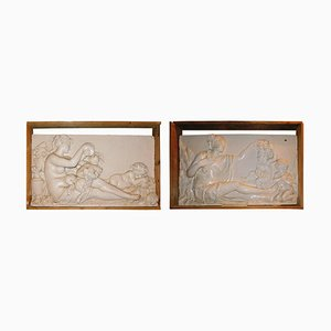 Antique Panels in Scagliola, Set of 2
