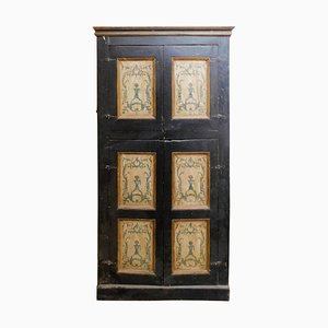 Antique Lacquered Wall Cabinet