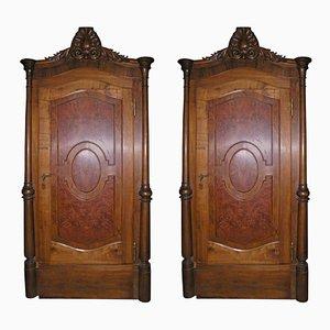 Antique Doors with Original Frame, Set of 2