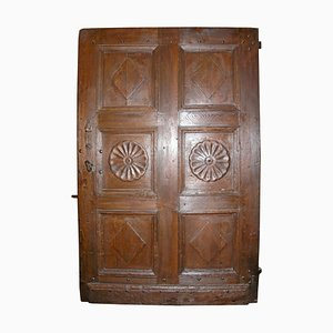 Antique Walnut Entry Door