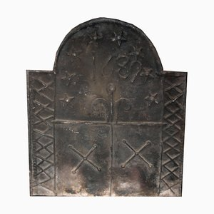 Antique Cast Iron for Fireplace, 1689