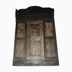 Antique Wall Closet Panel with Door