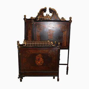 Antique Richly Decorated Bed