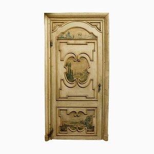 Antique Italian Painted Decorated Door Frame, 1700s