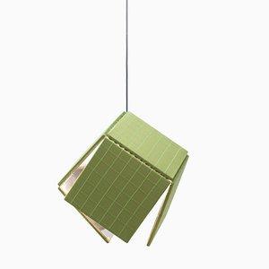 Lámpara de seda de Harry Thaler para Swing Gallery