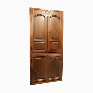 18th Century Wall Cabinet Door in Placard Carved Walnut