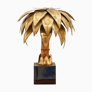 Brass Palm Table Lamp by Christian Techoueyres for Maison Jansen, 1970s