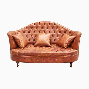 Leather Chesterfield Sofa, 1980s
