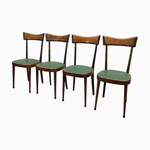 Mid-Century Modern Italian Dining Chairs, 1950s, Set of 4
