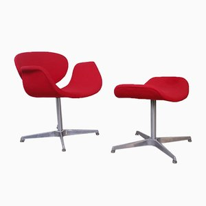 Mid-Century Little Tulip Chair & Ottoman by Pierre Paulin for Artifort, Set of 2