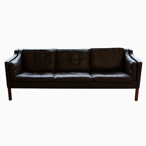 2203 Danish Leather Sofa by Borge Mogensen for Fredericia, 1960s