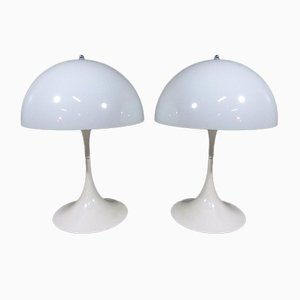 Large Danish Panthella Table Lamps by Verner Panton for Louis Poulsen, 1970s, Set of 2