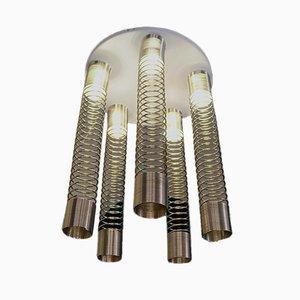 Spirale Deckenlampe von Angelo Mangiarotti für Candle, 1974