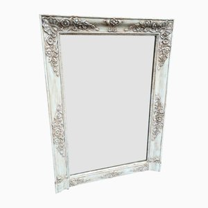 19th Century Louis Philippe Wood & Gesso Painted Mirror