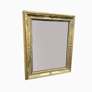 Antique French Louis Philippe Carved Wood & Gesso Gilt Mirror