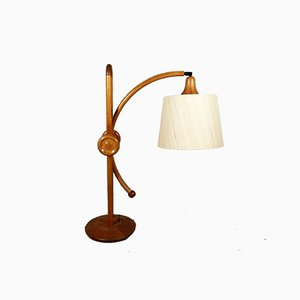 Danish Teak Adjustable Table Lamp, 1960s