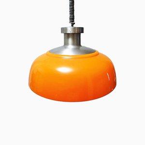 Orangefarbene KD7 Deckenlampe von Achille Castiglioni für Kartell, 1950er