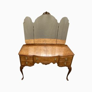 Burr Walnut Queen Anne Dressing Table