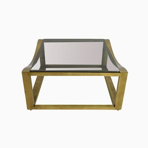 Italian Modern Brass Coffee Table, 1970s