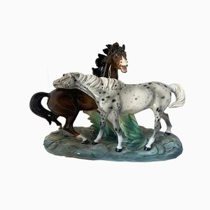 Figure of 2 Horses from Ronzan, 1940s