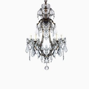 Maria Teresa Crystal 7-Light Chandelier, 1950s