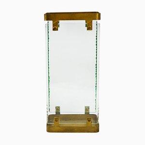Portaombrelli in ottone e vetro di Max Ingrand per Fontana Arte, anni '60