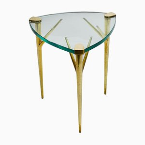 Brass and Bevelled Glass Coffee Table by Max Ingrand for Fontana Arte, 1950s