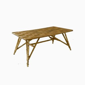 Large Mid-Century French Dining Table by Adrien Audoux & Frida Minet, 1950s