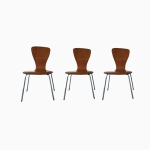 Mid-Century Nikke Dining Chairs by Tapio Wirkkala for Asko, Set of 3
