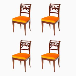 19th Century Neoclassical Dining Chairs, Set of 4