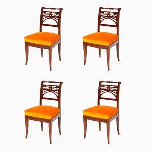 Neoklassizistische Esszimmerstühle, 19. Jh., 4er Set