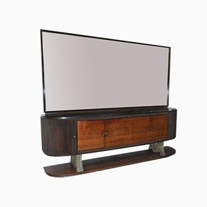 Italienisches 6-türiges Sideboard mit Spiegel im Stil von Paolo Buffa, 1940er, 2er Set